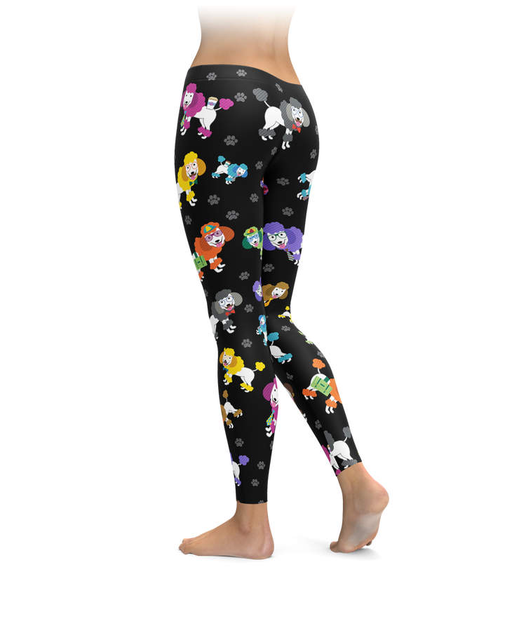 Colorful Poodle Leggings