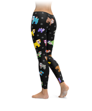 Colorful Bulldog Leggings