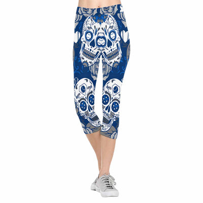 Los Angeles Sugar Skull 3/4 Capri Leggings
