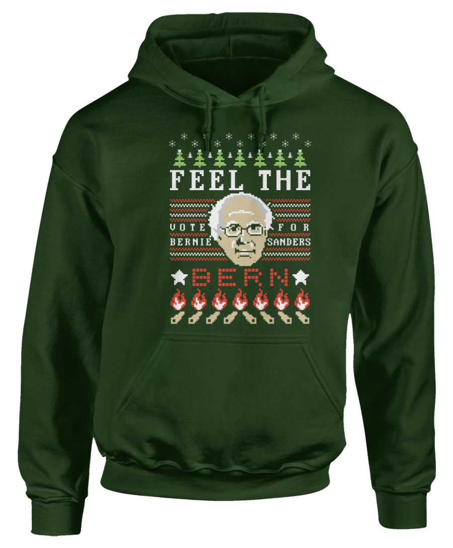 Bernie Sanders 2016 - Feel the Burn - Ugly Christmas Sweater