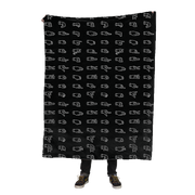 ASL Alphabet Fleece Blanket