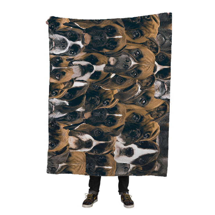 Boxers on Boxers on Boxers Fleece Blanket