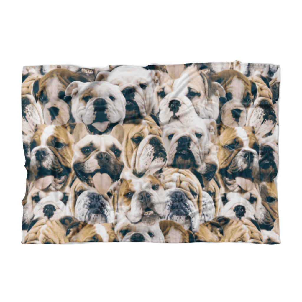 Bulldogs on Bulldogs on Bulldogs Fleece Blanket