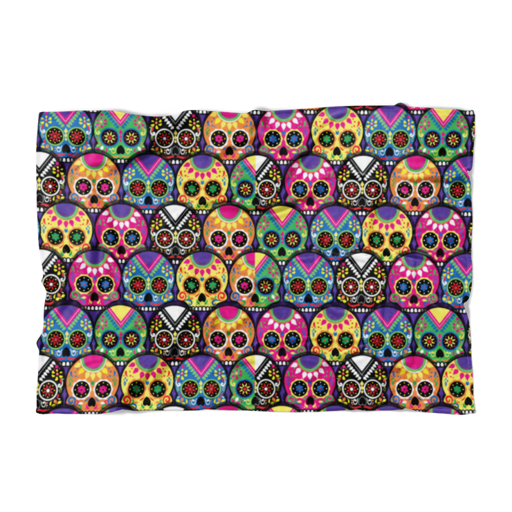 Candy-Colored Sugar Skulls Fleece Blanket
