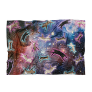 Cat Galaxy Fleece Blanket