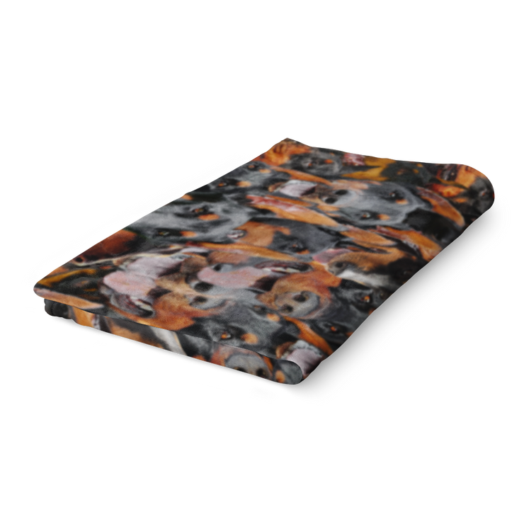 Dobermans on Dobermans on Dobermans Fleece Blanket