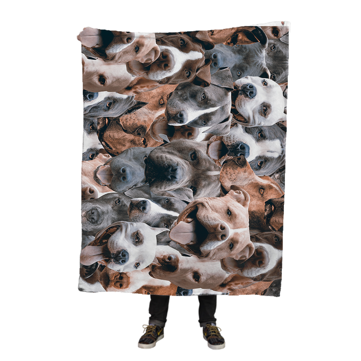 Pitbulls on Pitbulls on Pitbulls Fleece Blanket