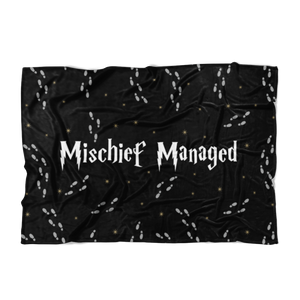 Mischief Managed Fleece Blanket
