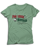 "For Lease Navidad Holiday Inspired Mint Green Women's Tee. Christmas themed mens tee with ""For Lease Navidad"" red and green printed design."