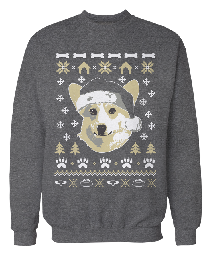 Corgi Ugly Christmas Holiday Dog Long Sleeve Unisex Sweatshirt tee