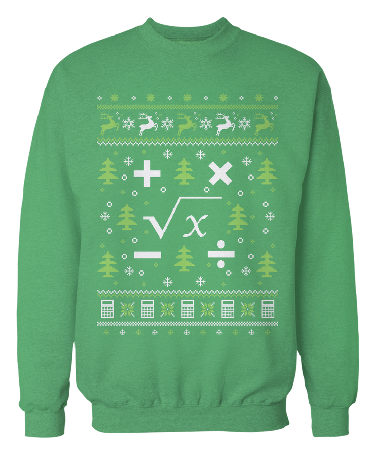 Math Teacher Ugly Christmas Sweater - Holidays