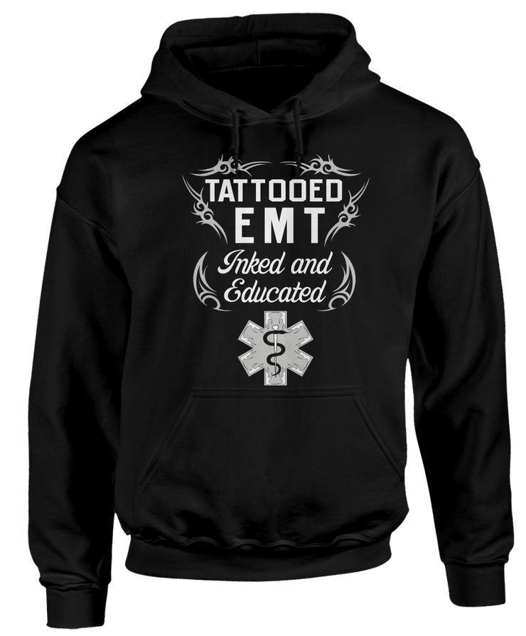 Tattooed EMT - Inked And Educated - Cool Tattoo EMT Apparel