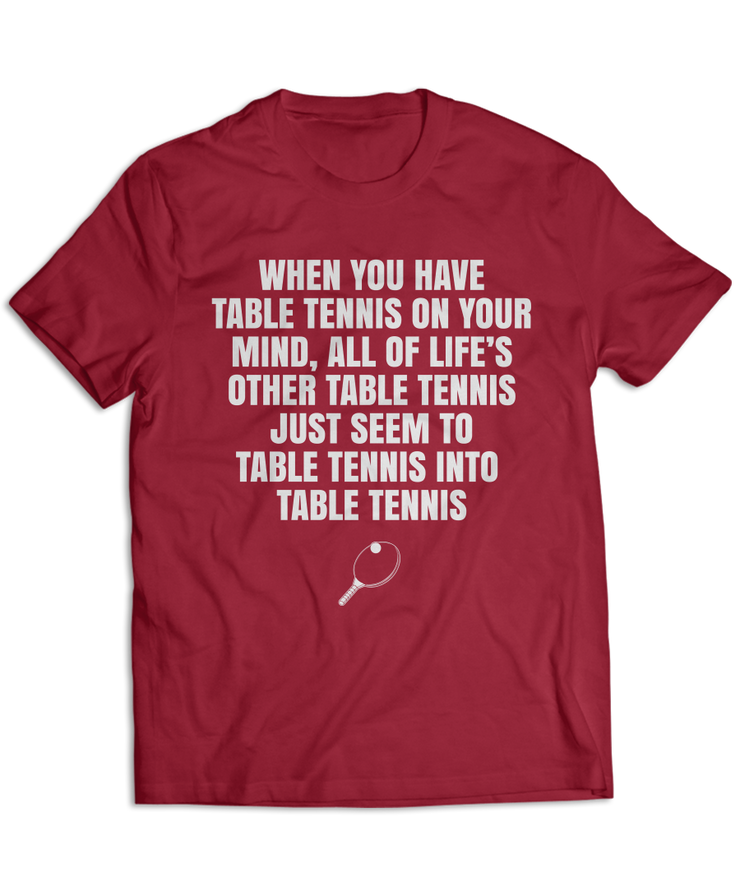 Table Tennis On My Mind