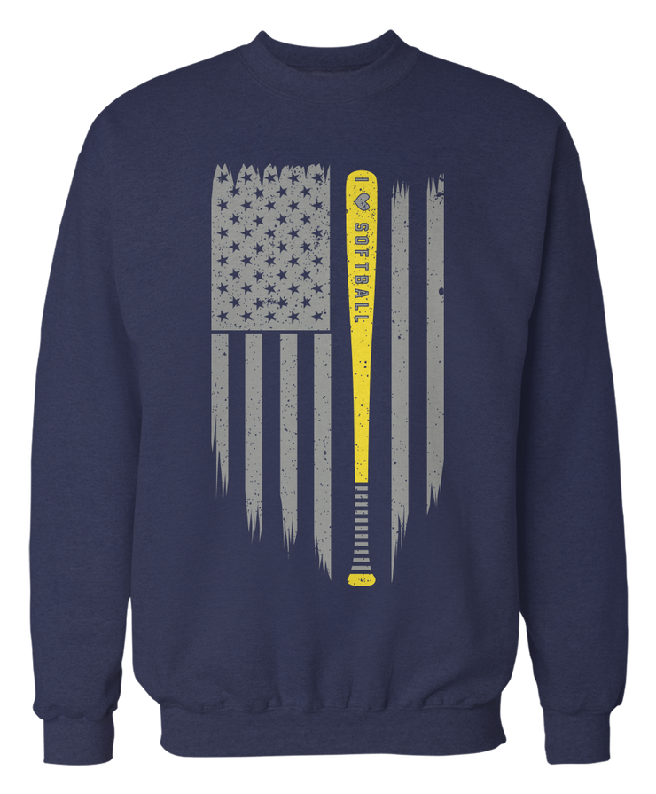 Love Softball - US American Flag