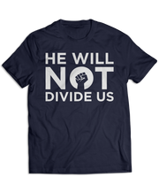 He Will Not Divide Us (white ink)