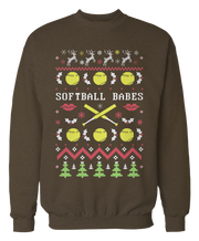 Softball Babes - Softball Ugly Christmas Sweater - Holidays