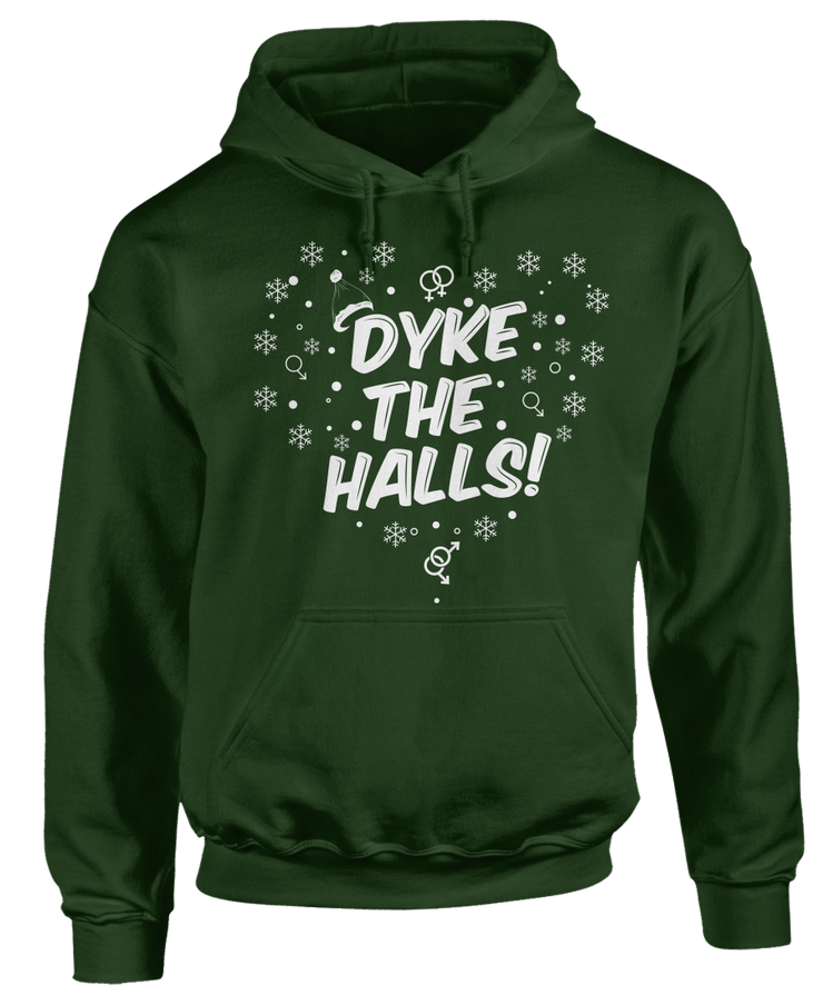 Dyke The Halls LGBT Ugly Christmas Sweater - Holidays