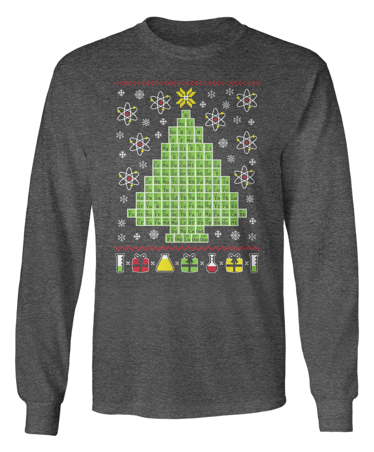 Chemistry Periodic Table Science - Ugly Christmas Sweater - Holidays