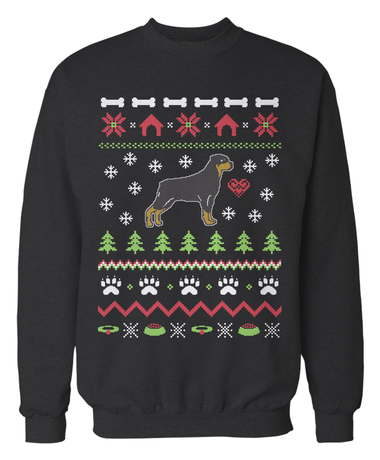 Rottweiler Ugly Christmas Sweater - Holidays