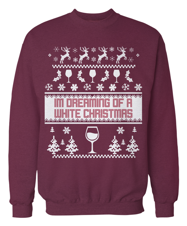 Dreaming Of A White Wine Christmas (Sweater)