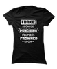 I Bake Because Punching People is Frowned Upon - Funny Baking Apparel