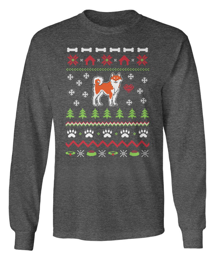 Akita Ugly Christmas Sweater - Holidays