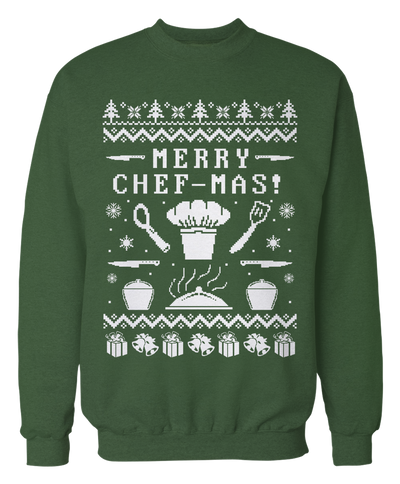 Merry Chef-mas - Ugly Chef Sweater - Holiday Apparel