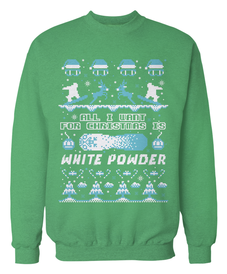 Snowboard Ugly Christmas Sweater - Holidays