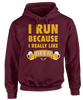 I Run Because I Really Love Beer - Funny Beer Foodie Apparel