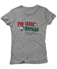 "For Lease Navidad Holiday Inspired Sports Grey Women's Tee. Christmas themed mens tee with ""For Lease Navidad"" red and green printed design."