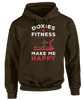 Doxies and Fitness Make Me Happy - Funny Dachshund Apparel
