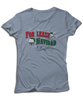 "For Lease Navidad Holiday Inspired Light Blue Women's Tee. Christmas themed mens tee with ""For Lease Navidad"" red and green printed design."