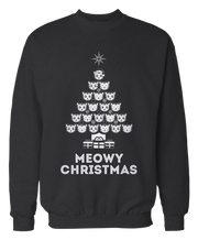 Meowy Christmas Cat Ugly Christmas Sweater - Holidays