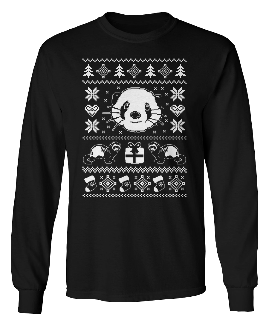 Ferret Ugly Christmas Sweater - Holidays