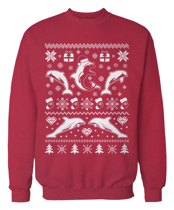 Ugly Dolphin Sweater - Holiday Apparel