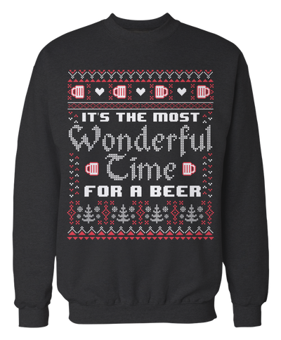 It's The Most Wonderful Time For A Beer Ugly Xmas Sweater