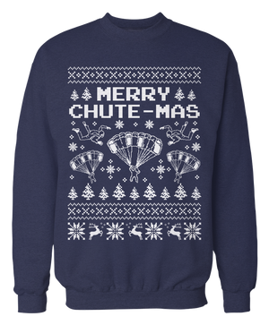 Merry Chute-Mas - Ugly Skydiving Sweater - Holiday Apparel