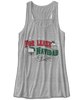 "For Lease Navidad Holiday Inspired Women's Athletic Heather Flowy Tank Top. Christmas themed womens flowy tank top with ""For Lease Navidad"" red and green printed design."
