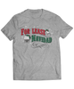 "For Lease Navidad Holiday Inspired Men's Grey Tee. Christmas themed mens tee with ""For Lease Navidad"" red and green printed design."
