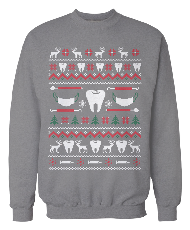 Dental Hygienist Ugly Christmas Sweater - Holidays