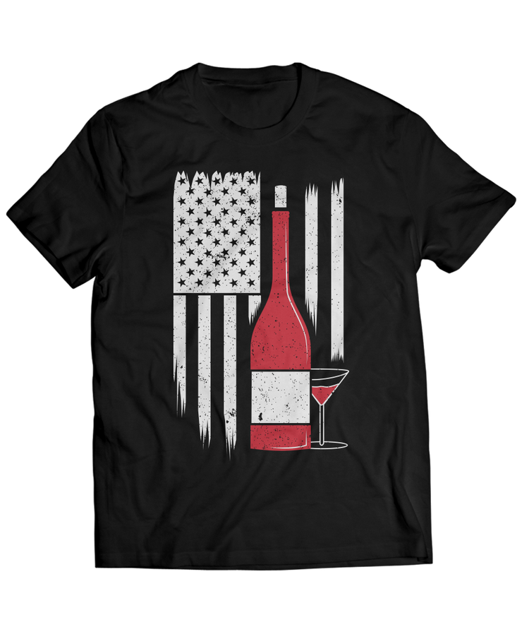 Love Wine - US American Flag