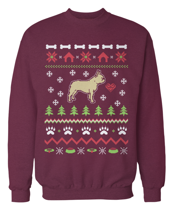 French Bulldog Ugly Christmas Sweater - Holidays