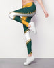 Green & Yellow Baseball Stitch Leggings