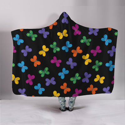 Colorful Butterfly Hooded Blanket