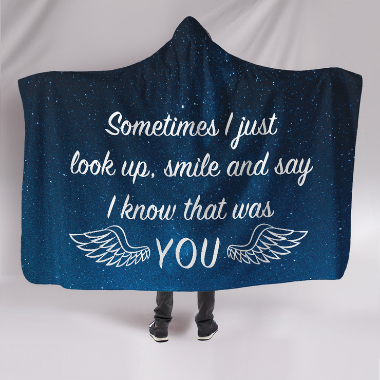 Know That Was You Hooded Blanket