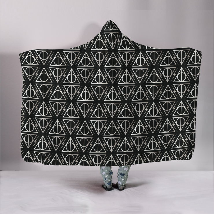 Tessellated Hallows Hooded Blanket