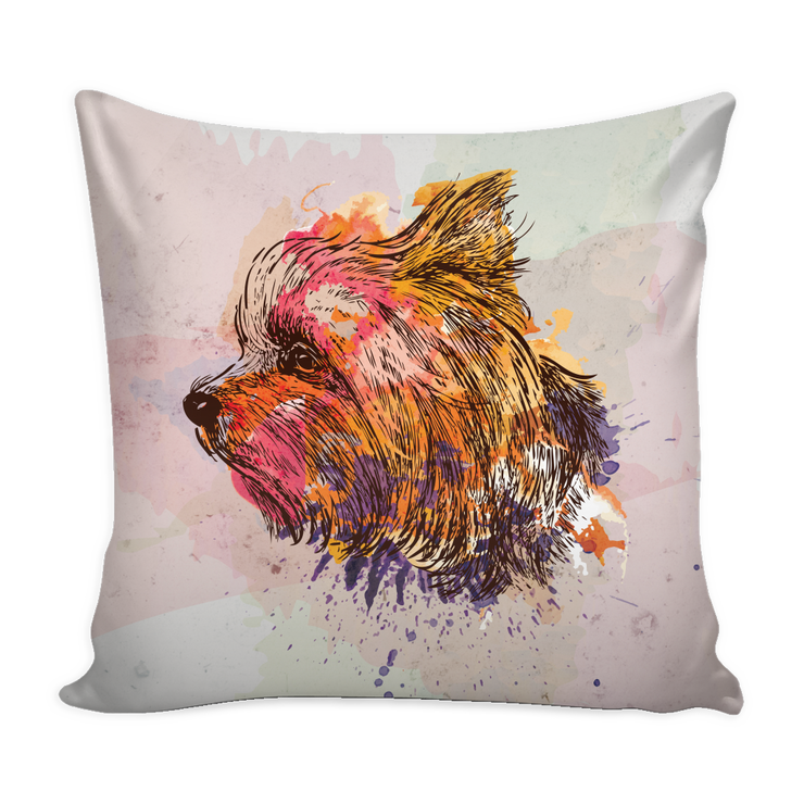 Yorkie Throw Pillows