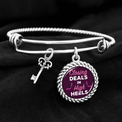 Closing Deals In High Heels Charm Bracelet