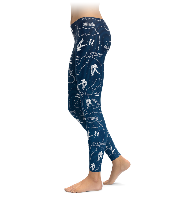 Aquarius Zodiac Sign Leggings