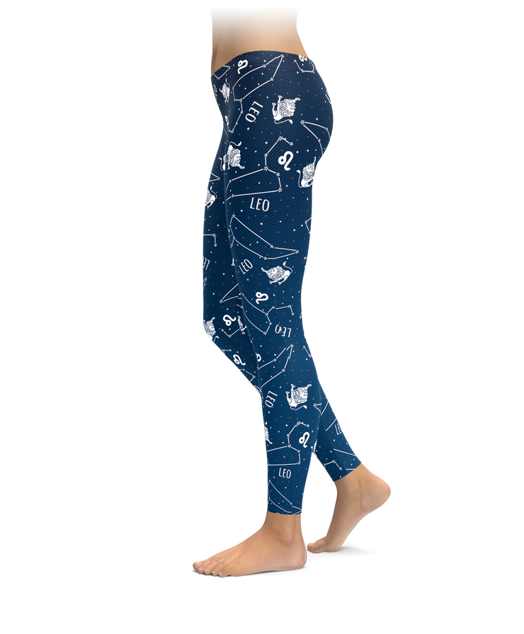Leo Zodiac Sign Leggings